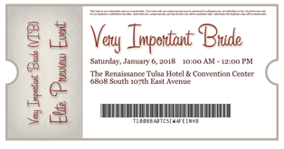 Ticket to The Tulsa Wedding Show's Elite Preview Event